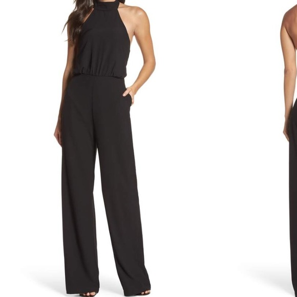774bb2f5d47bd Lulu s Pants - Moment for Life Halter Jumpsuit